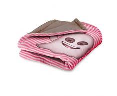 Emoji You Are Phantastic Noa Fleecedecke, Polyester, Pink, Einzelbett, 190 x 120 x 3 cm