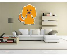 INDIGOS KAR-Wall-clm033-70 Wandtattoo fürs Kinderzimmer clm033 - Lustige kleine Monster - Niedlichen Hund - Wandaufkleber 70 x 80 cm