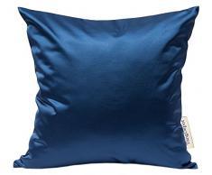tangdepot Massiv Seidig Überwurf Kissenbezügen, Scheint und Luxus Kissen, Seide, Marineblau, 35,6 x 35,6 cm