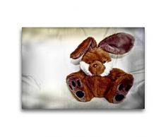Calvendo Premium Textil-Leinwand 75 cm x 50 cm quer Hase | Wandbild, Bild auf Keilrahmen, Fertigbild auf echter Leinwand, Leinwanddruck: Kuscheltier Hobbys Hobbys