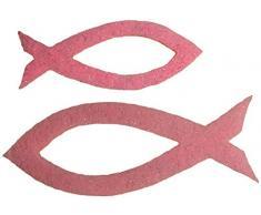 Petras Bastel News Streudeko, Fliz, rosa, 18 x 12 x 5 cm