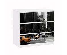 Apalis 91639 Möbelfolie für Ikea Malm Kommode Empire State Building, größe 3 mal, 20 x 80 cm