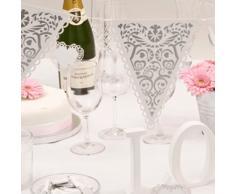 Neviti Vintage Romance Wimpelkette, Weiß/Silber