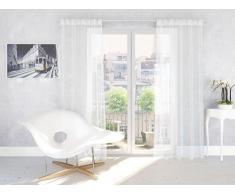Splendid ARAGONIA Konfektion Vorhang mit Schlaufen, 140 x 245 cm, nicht-gerade weiß