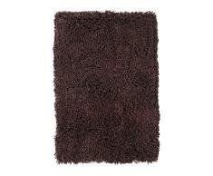 Thedecofactory Teppich 60 x 90 PES Seidig Nikita, Polyester, Schokolade, 90 x 60 x 1,5 cm