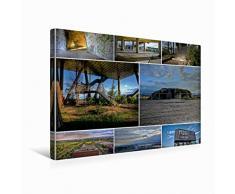 Premium Textil-Leinwand 45 x 30 cm Quer-Format ehem. Pavillon auf der Expo   Wandbild, HD-Bild auf Keilrahmen, Fertigbild auf hochwertigem Vlies, Leinwanddruck von el.kra-photographie