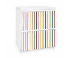 Apalis 91127 Möbelfolie für Ikea Malm Kommode - Selbstklebe nummer UL750 Stripes, größe 2 mal, 20 x 40 cm