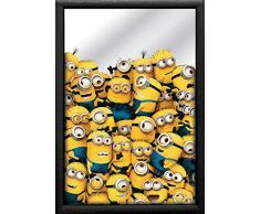 empireposter - Minions - Crowd - Größe (cm), ca. 20x30 - Bedruckter Spiegel, NEU - Beschreibung: - Bedruckter Wandspiegel mit schwarzem Kunststoffrahmen in Holzoptik -
