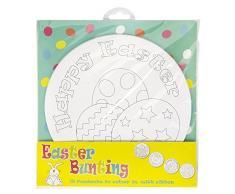 Neviti Easter Craft Wimpelkette zum Ausmalen