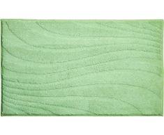 Linea Due Grund Badematte 100% Polyester, Ultra Soft und saugfähig, Badteppich rutschfest, ÖKO-TEX-Zertifiziert, 5 Jahre Garantie, Marrakesh, Badteppiche 70x120 cm, grün