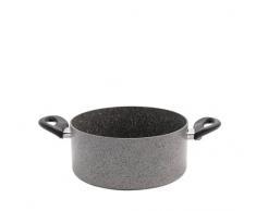 BALLARINI Cortina Granitium Kasserolle mit 2 Griffen, Aluminium, Grau, 18 cm