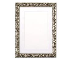 Memory Box Instagram Kissen, quadratisch, mit bruchsicherer Styrolplatte, 26 mm breit und 23 mm tief, silberfarbener Rahmen mit weißem Passepartout, 43,2 x 43,2 cm, für 38,1 x 38,1 cm