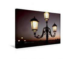 Premium Textil-Leinwand 45 x 30 cm Quer-Format Alte Laterne   Wandbild, HD-Bild auf Keilrahmen, Fertigbild auf hochwertigem Vlies, Leinwanddruck von Simone Wunderlich