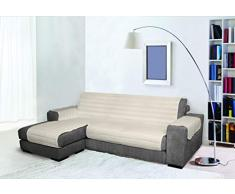 Trendy Sofabezug mit Penisel 240 cm cremeweiß