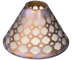 Pavillon – Bronze und Lila Schwamm Gemustert Milchglas Glas Kerzenschirm