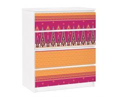 Apalis 91345 Möbelfolie für Ikea Malm Kommode - selbstklebende Sommer Sari, größe 4 mal, 20 x 80 cm
