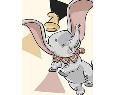 Disney Wandbild von Komar | Dumbo Angles | Kinderzimmer, Babyzimmer, Dekoration, Kunstdruck | Größe 30x40cm (Breite x Höhe) | ohne Rahmen | WB025-30x40