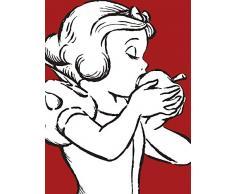 Disney Wandbild von Komar | Snow White Apple Bite - red | Kinderzimmer, Babyzimmer, Dekoration, Kunstdruck | Größe 30x40cm (Breite x Höhe) | ohne Rahmen | WB053-30x40