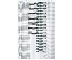 kela Duschvorhang Lamita 180x200cm aus Polyester in grau, 200 x 180 x 0.8 cm