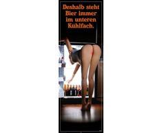 Bier - Unteres Kühlfach II Tür-Poster (158 x 53cm)