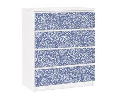 Apalis 91357 Möbelfolie für Ikea Malm Kommode - selbstklebende The 7 Virtues - Prudence, größe 4 mal, 20 x 80 cm