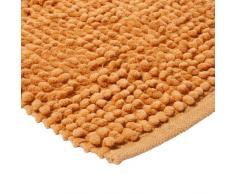 Monbeautapis Pflaume 701302 Pelouse Teppich, Baumwolle, 110 x 70 cm, Baumwolle, Orange, 110x70x10 cm