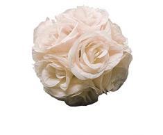Craft And Party Küssball mit Rosenblüten-Motiv, für Hochzeit, Party-Dekoration 7 elfenbeinfarben