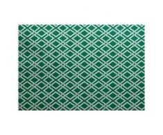 E-design 3 x 5-ft, Seil Ausrüstung, geometrische Print Teppich, grün