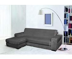 Trendy Sofabezug mit Penisel 240 cm dunkelgrau