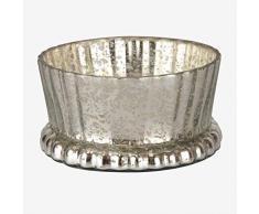 Better & Best Pñ Couchtisch, rund, Spiegel, Maße 13 x 13 x 7 cm, Material: Glas, silberfarben, Einheitsgröße