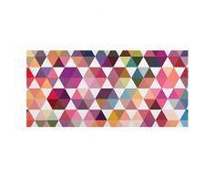 Apalis 108777 Magnettafel Hexagon Facetten Memoboard Design Quer Metall Magnet Pinnwand Motiv Wand Stahl Küche Büro, 37 x 78 cm