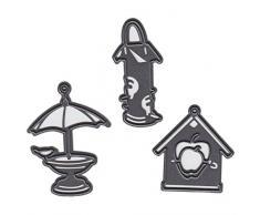 Marianne Design Craftables Stanzform Tinys Vogelhaus 2-Cutting Die, Steel, grau, 16 x 11.5 x 3 cm