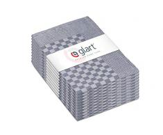 Glart 48SG 10er Set Geschirrtücher, Vollzwirn, 50x70 cm, 100% Baumwolle OEKO-TEX, grau, vorgewaschen