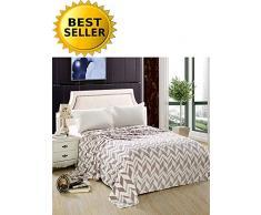 Elegant Comfort #1 Fleecedecke auf Amazon Micro-Fleece Ultra Plüsch Pfeil Muster - Ganzjahresdecke King, Lila