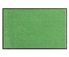HANSE Home Soft & Clean Fussmatte Schmutzfangmatte, Polyamid, Grün, 140 x 200 x 0.7 cm,