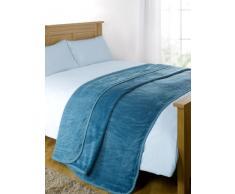 Luxus Kunstfell groß Blaugrün Mink Fleece Überwurf über Sofa Bett Weiche Warme Decke, Blaugrün, King - 200 x 240xm