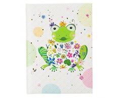 Goldbuch Freundebuch, Happy Frog, DIN A5, 88 illustrierte Seiten, Kunstdruck mit Relief, Bunt, 43392