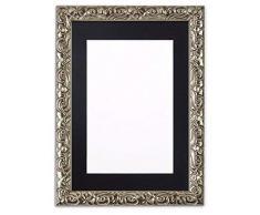 Memory Box Instagram Kissen, quadratisch, mit bruchsicherer Styrolplatte, 26 mm breit und 23 mm tief, silberfarbener Rahmen mit schwarzem Passepartout, 43,2 x 43,2 cm, für 38,1 x 38,1 cm