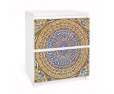 Apalis 91065 Möbelfolie für Ikea Malm Kommode - Selbstklebe Dome of the Mosque, größe 2 mal, 20 x 40 cm