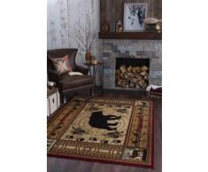 Universal für Teppiche, rechteckig, Teppich, 160 x 120 cm, 6 Stück, Polypropylen, Rot, 160 x 120 cm x 0,43