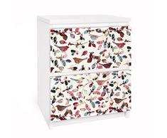 Apalis 91102 Möbelfolie für Ikea Malm Kommode - Selbstklebe Look Closer, größe 2 mal, 20 x 40 cm
