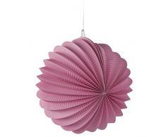 Rayher 87106270 Papier Lampion, inklusive Schnur zum Aufhängen, 22cm ø, rosa, Partydekoration