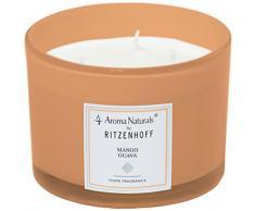 Ritzenhoff Aroma Naturals Modern Duftkerze, Glas, Orange, 11 x 11 x 8 cm