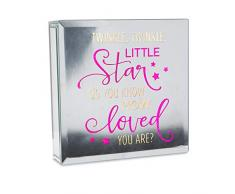 Pavillon Gift Company Twinkle Little Star Do You Know How Loved You Are 15,2 x 15,2 cm, Pink