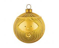 Alessi AMJ13 3 GD Giuseppe Weihnachtskugeln 4 Stück aus Glas in Gold