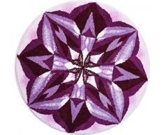 Grund m2675-045001262 Aussagekraft - Mandala Runde Durchmesser 100 cm, Badteppich, Kunstfaser, Lila, 100 x 15 x 1, 8 cm