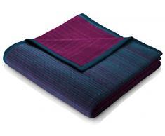 biederlack Kuscheldecke 150x200 cm I Exquisite Cotton-Dégradé I Wohndecke in violett und blau I 60% Baumwolle, 40% dralon I Made in Germany