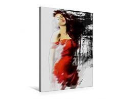 Calvendo Premium Textil-Leinwand 50 cm x 75 cm hoch, Die schöne Muse   Wandbild, Bild auf Keilrahmen, Fertigbild auf Echter Leinwand, Leinwanddruck: Erotik handsigniert Acrylgemälde Menschen Menschen