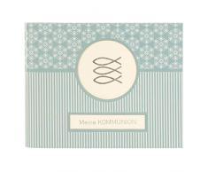 Goldbuch Fotobuch für die Kommunion, Mandala, 24,5x19,5 cm, 50 weiße Seiten, 4 Seiten Textvorspann, Kunstdruck, Weiß/Türkis, 40 142