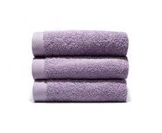 LASA Handtücher, 100% Baumwolle, Orchidee, Dusche (70 x 140 cm), Waschbecken und Schminktisch